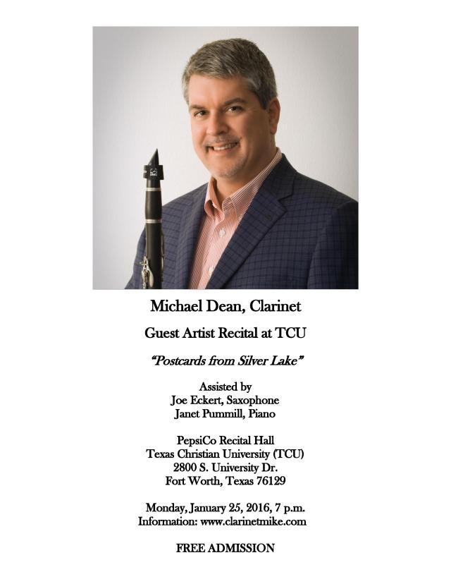 "ClarinetMike says, ""Come to my recital! FREE ADMISSION - What a Deal!"""