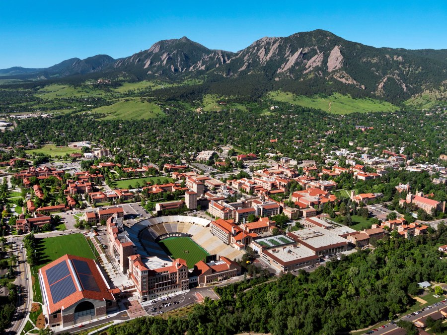 The University of Colorado at Boulder where I did my Master's Degree. Photo Courtesy of University of Colorado Boulder